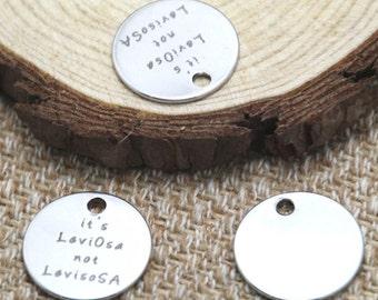 10pcs it's leviosa not levisosa silver tone message charm pendant 20mm D2042
