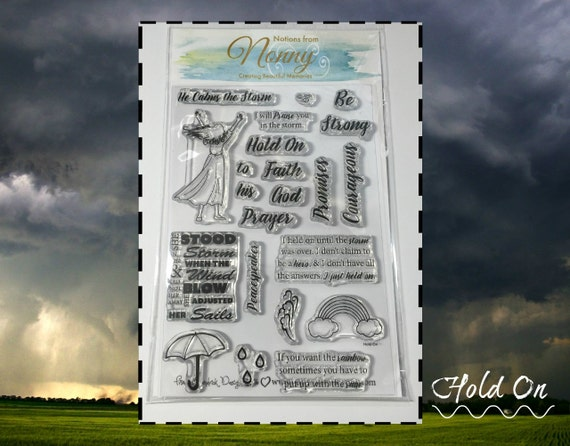HOLD ON Stamp Set - 22 individual stamps for mutiple sayings!! | Bible Journaling - Mixed Media - Scrapbooking