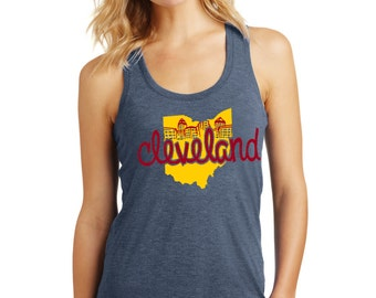 Our State Cleveland Womens Racerback Tank