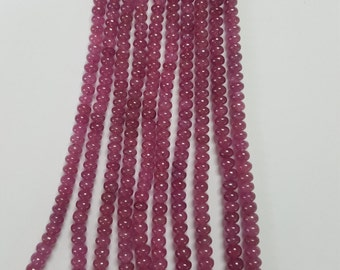Pink Sapphire Roundels Smooth (Natural Color)