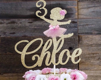 Ballerina Cake Topper, personalize cake topper, ballerina, tutu