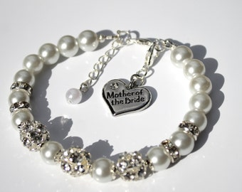 Mother of the Bride Gift Bracelet, Mother of the Groom Gift Bracelet, Bridesmaid, Maid of Honour gifts