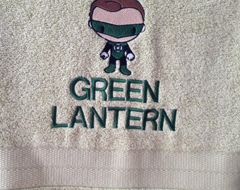 Green Lantern Towel and Washer Set - Pale Green