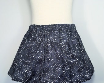 Girls gray dotted skirt