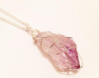 Amythyst crystal necklace