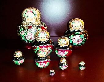 Vintage Nesting Dolls - 9 pc.