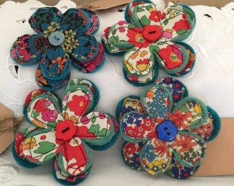 Liberty and felt brooches