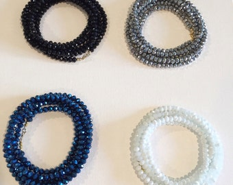 SALE! XL wrap around faceted necklaces