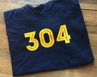 WV 304 home Mountaineer WV football shirt, blue and gold, tailgate tshirt, pullover hoodie, long sleeve,