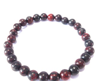 POPPY JASPER Semi precious gemstone bracelet ~ Willpower, eases stress and heartbreak, promotes peace and happiness.