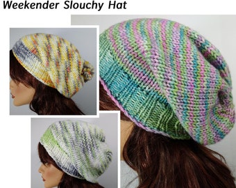 Knitting Pattern / Recipe for the Weekender Slouchy Hat