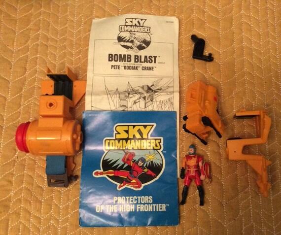 SAVE 25% WITH CODE: SAVE25 Vintage Sky Commanders Bomb Blast with Action Figure Pete Kodiak Crane