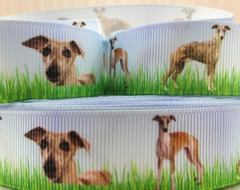 "Whippet Printed Grosgrain Ribbon 7/8"" 22mm"
