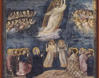 The Ascension by Giotto di Bondone.FREE SHIPPING