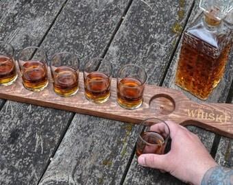 Whiskey tasting tray, Whiskey flight tray, whiskey lover gift, Whiskey tasting holder, gifts for him