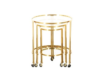 Brass Nesting Tables Etsy