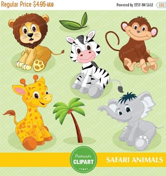 free clip art baby safari animals - photo #31