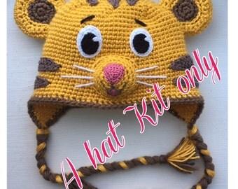 Daniel Tiger crochet hat DIY KIT only