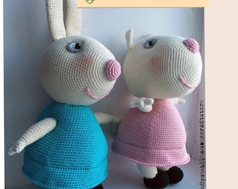 Miss Rabbit or Suzy Sheep from Peppa Pig show
