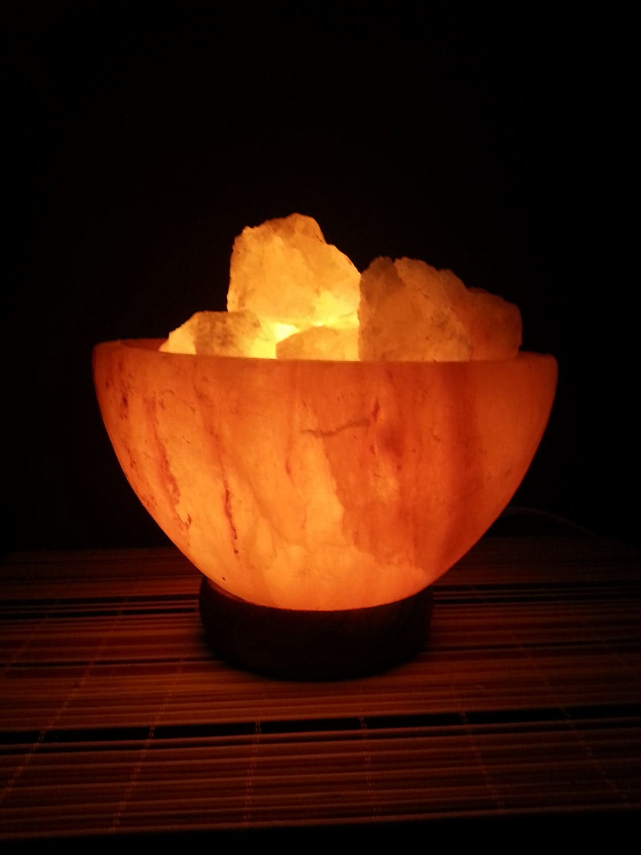 Himalayan Salt Lamp Fire Bowl/ Salt lamp/ Purifying Lamp/