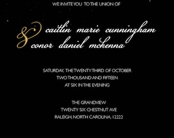 NYE Themed Wedding Invitation