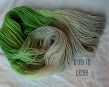 Grass and Stone - Hand-Dyed / Hand-Painted Yarn - Superwash Merino Wool - Dyed To Order