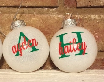 Monogram Christmas Ornaments