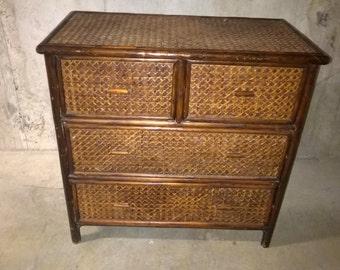 Vintage Wicker Dresser