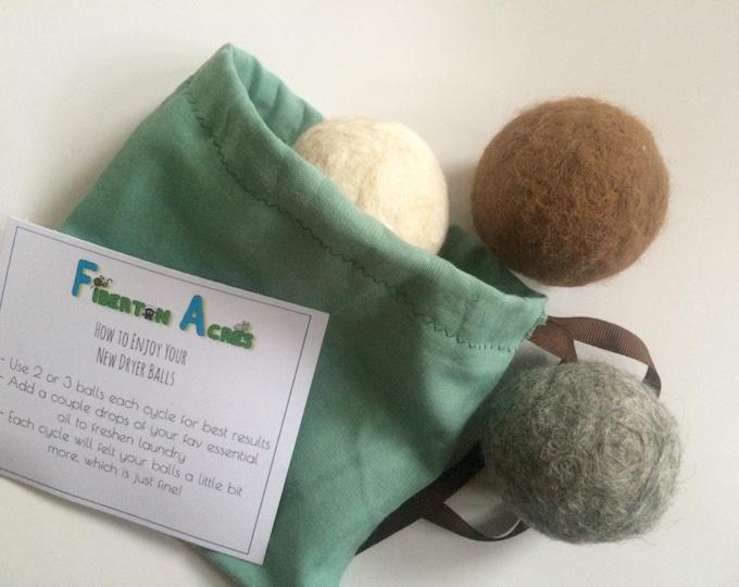 Featured listing image: Alpaca Dryer Balls - 100% Alpaca Fiber - Hand Felted - Set of 3