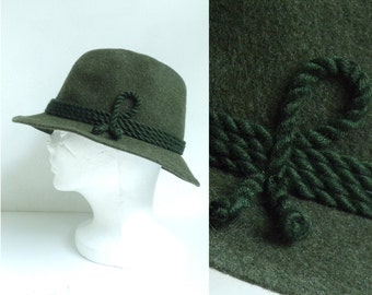 mens fedora, mens hat, felted wool hat, olive green hat, mens cap, 1960s hat, mad men 60s hat, classic travel hat