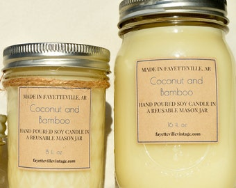 Coconut and Bamboo Candle