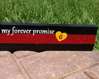 Thin Red Line Desk Plaque, Name Plate. Firefighter gifts, firefighter Wedding, Firefighter wife, Firefighter Gifts, LEOW ON DUTY