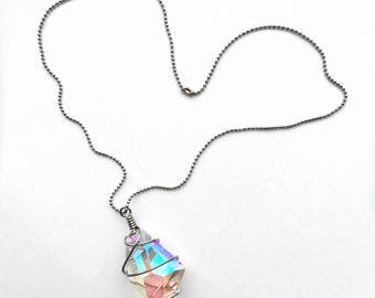 A Diamond in the Rough Iridescent Necklace