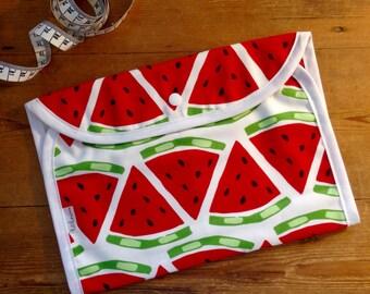 Watermelon Nappy Clutch - Nappy Wallet - Nappy Bag - Diaper Bag