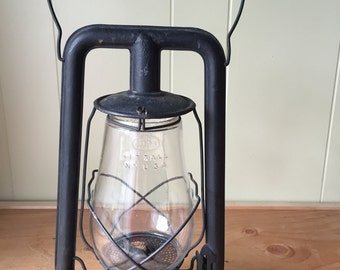Vintage Black Regal Barn Lantern
