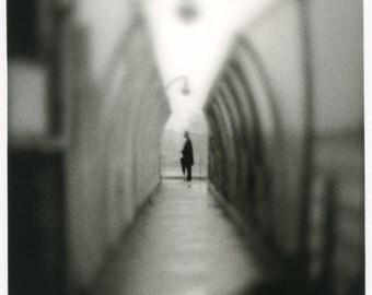Alone (2003,NYC).Darkroom silver print on fiber based paper