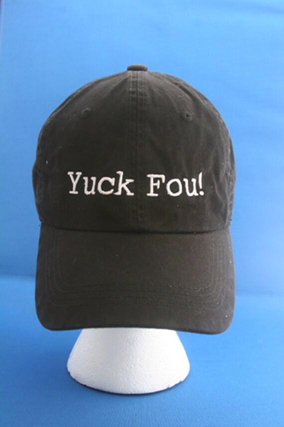 Yuck Fou!- Ball Cap (Black with White Stitching)