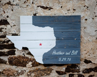 Rustic Texas Wooden Sign