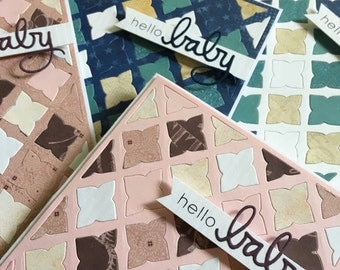 Hello Baby Vintage Quilted Greeting Card