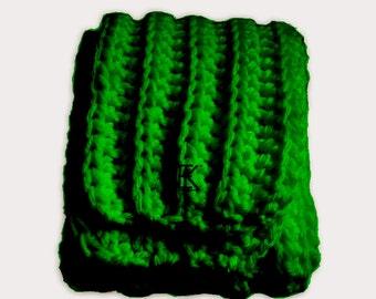 Brioche Chunky Scarf - Verde