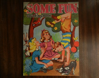 Some Fun ~ 1949 ~ Oversize Coloring Book
