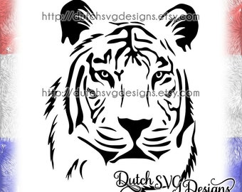 Tiger cutting file in Jpg Png EPS DXF SVG, for Cricut & Silhouette, tiger svg, tiger clipart, tiger cut file, svg cut file, tiger vector