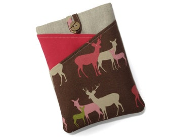 Nook Glowlight Plus Case, Kobo Touch Cover, Kindle Touch Case, Kindle Fire HD6 Cover, Kindle Paperwhite Pouch, Nook Case, Deer