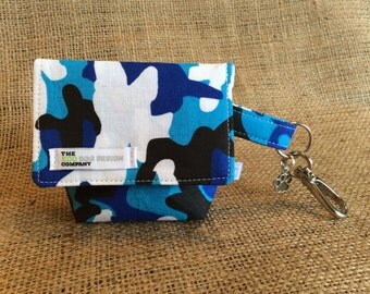 Dog Bag, Blue Army Print Dog Treat Pouch/ Waste Bag Carrier.