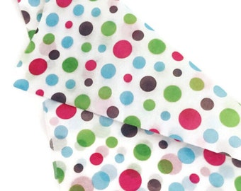 Multicolor Polka Dot Tissue Paper