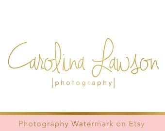 Instant Download Logo - DIY Pre-made Logo - Photography Watermark - Signature Watermark - Gold Logo - Photography Logo - Typography Logo 229