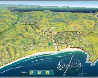 Sayulita Walking Map