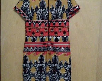 60s/70s Authentic Vintage Egyptian Style Psychedelic/Psychadelic Dress