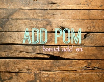 Pom Add-on for Bonnets