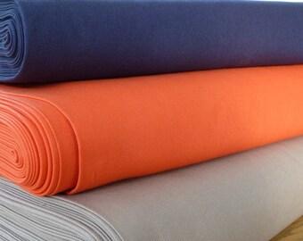 "Canvas/Duck Fabric 100% Cotton - Navy Blue, Orange & Taupe - 150 cm 59"" - Medium Weight - Soft Furnishing, Bags, Craft"